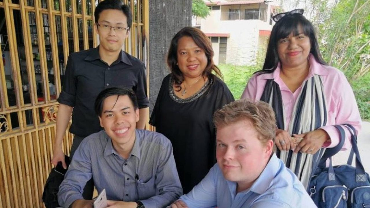 Connor Mitchell working at Penang with Pat-Lin Communications