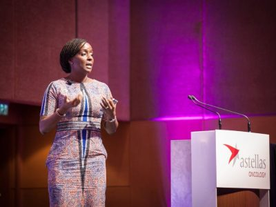 Ebele Mbanugo presenting in the C3 Prize Live Pitch Session
